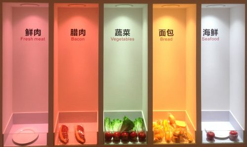 HONOURTEK light color for fresh food