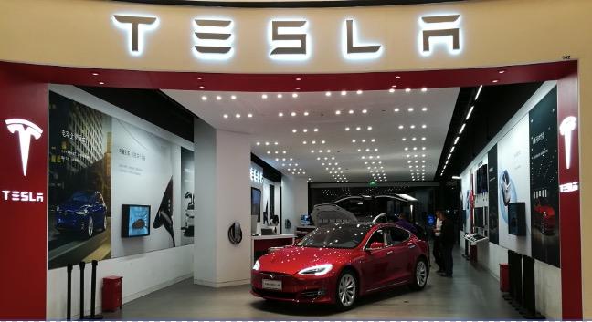 Tesla shop with honourtek cob led inside